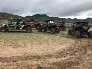 UTV throws mud
