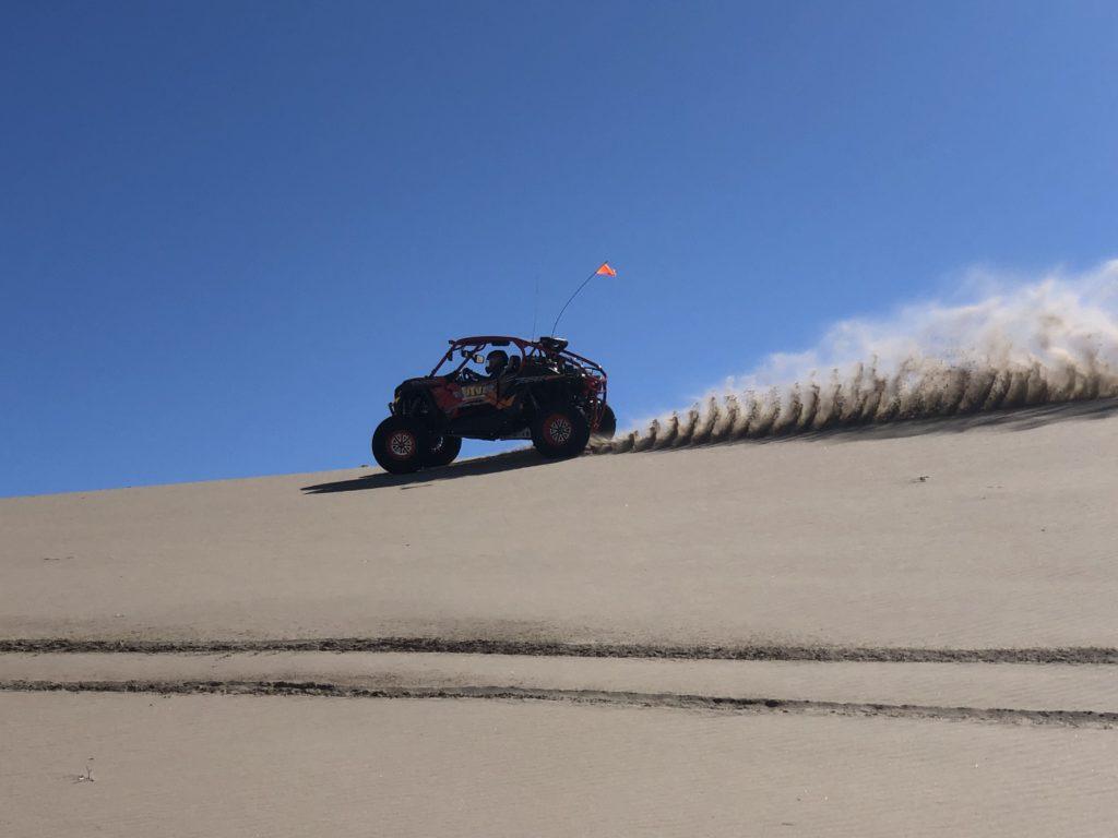 UTV riding in the sand dunes