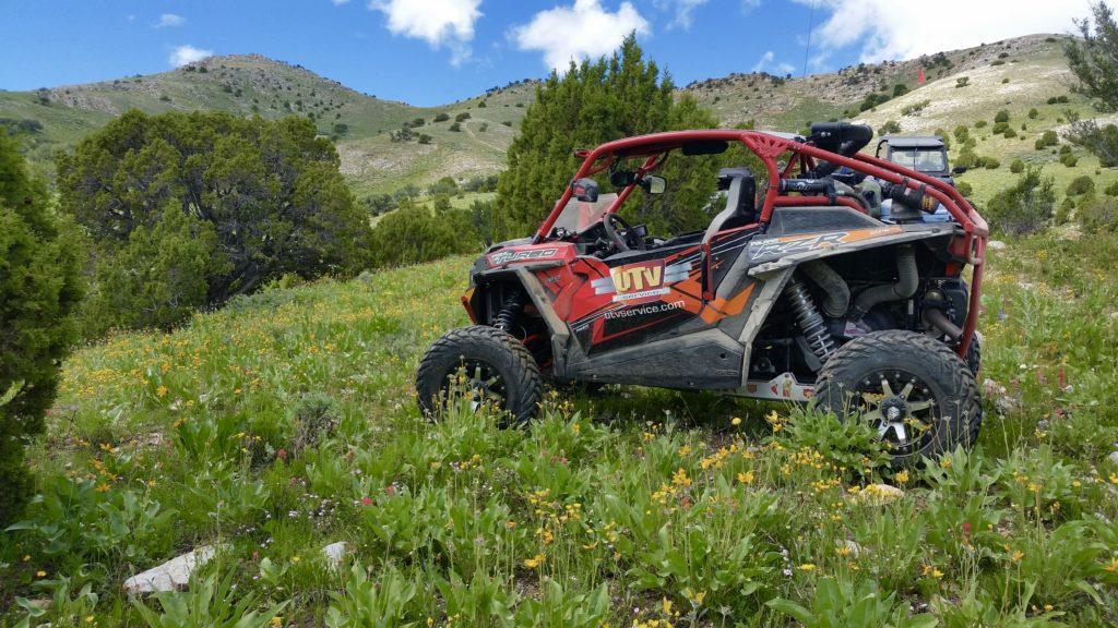 UTV in Utah's desert in the spring