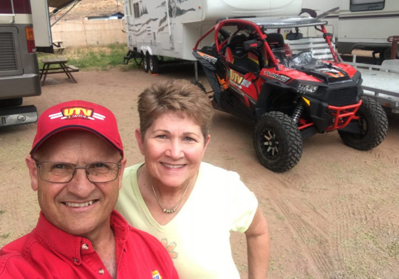 Jackie and I camping in Moab Utah